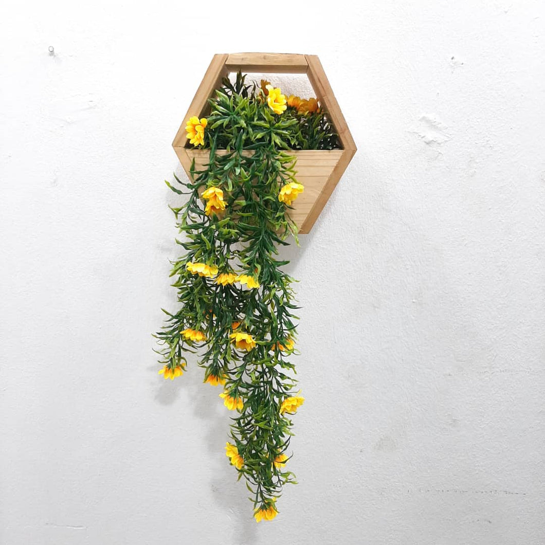 Wooden Box Wall Hanging Flower Plants