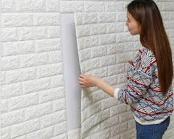 3D brick wall stickers