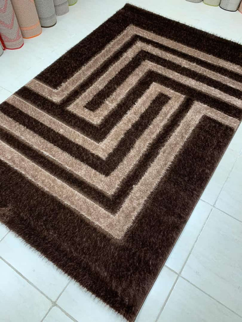 eunicon brown shaggy rug