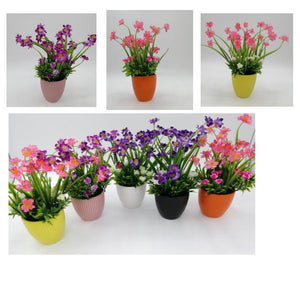 table top decorative mini synthetic flower plant