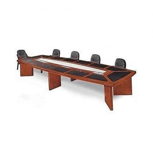 Padded top conference table