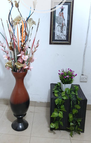 decorative brown flower vase
