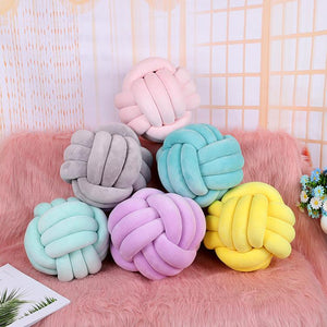 Decorative knotted ball Suede Throw Pillows