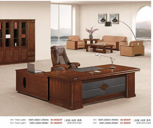 executive office desk with extension 1.6m