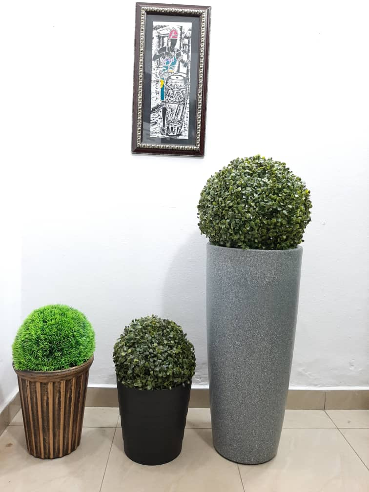 small decorative synthetic flower plant