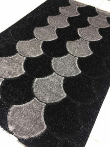 mushroom decorative center rug grey