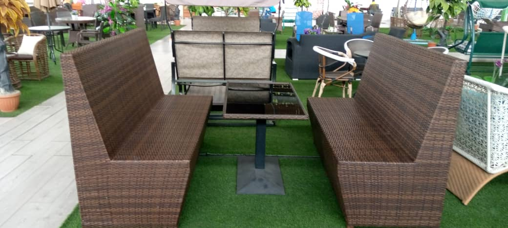 High back outdoor Rattan chairs