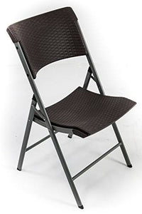 Black foldable plastic chair