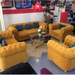Mustard Tufted bespoke Sofa Set