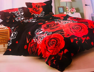 Beautiful red bold  Bedsheet and Duvet