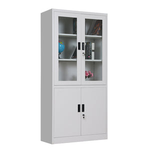 Steel glass cabinet