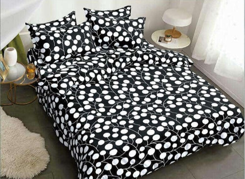 white drip bedsheet set