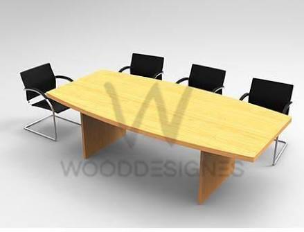 wood design conference table