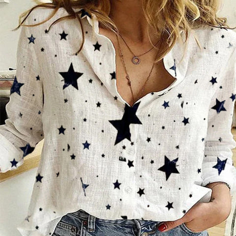 Star Printed Long Sleeve Shirt