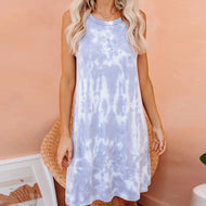 Tie-dye Gradient Color Tank Top Dress