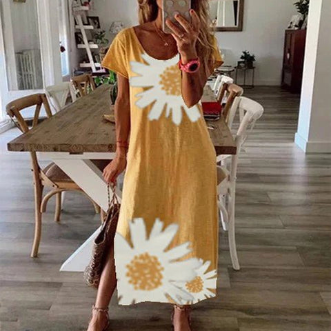Casual Daisy Print Dress