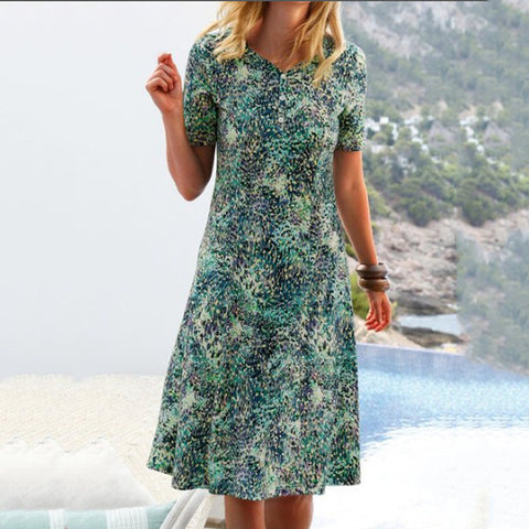 Printed Fashion Slim Dress