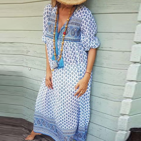 Bohemian Long Sleeve Dress