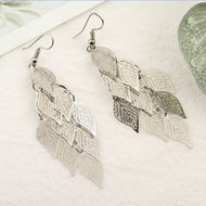 Colorful Seven Nine Leaf Earrings