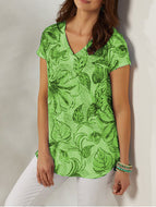 Leaf Flower Knitting T