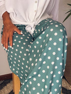 Polka-dot Wide-leg Pants