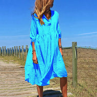 V-neck Casual Loose Dress