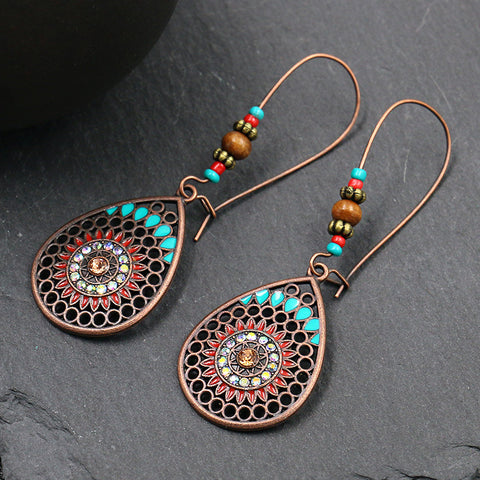 Long Oil Drop Earrings