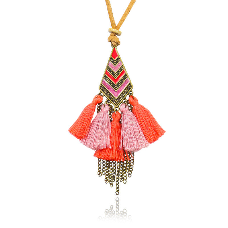 Vintage Tassel Necklace