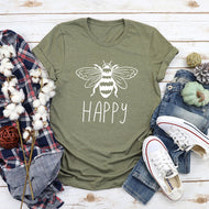 BEE HAPPY Printed T-shirt