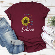 Sunflower Believe Short Sleeve T-shirt