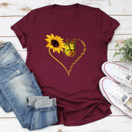 My Sunshine Sunflower Print T-shirt