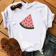 Fruit Print Short Sleeve T-shirt