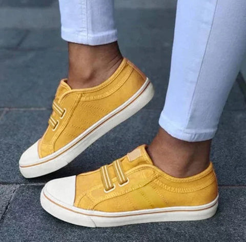 Denim Elastic Flat Casual Sneakers