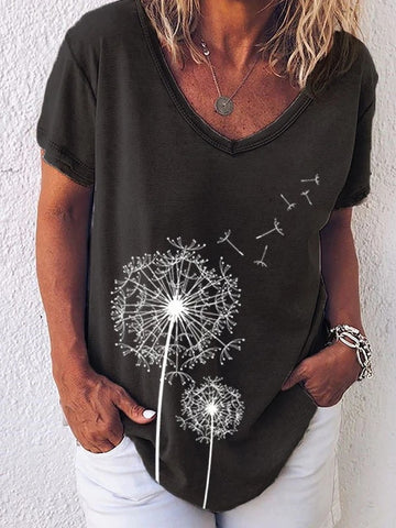 Dandelion V-neck Short Sleeve Top