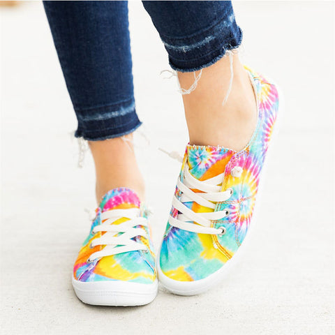 Tie-dye Flat Canvas Shoes