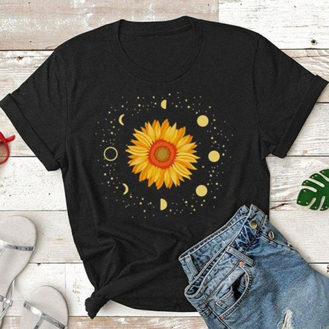 Personalized Fashion Sunflower Short Sleeve