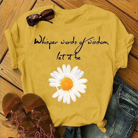 Summer Short Sleeve Little Daisy T-Shirt
