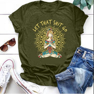 Sporty and Casual Loose Print T-shirt for Women