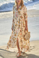 Printed Fashion Mid-Sleeve Dress