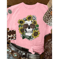 Fashion Short-sleeved Skull Top