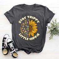 STAY TRIPPY LITTLE Short Sleeve Letter T