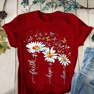 Flying Three Little Daisies T shirt