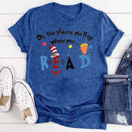 Printed T Shirt Bottoming Shirt Oh, The Places You 'll