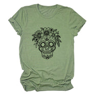 Skull Print Casual Short-sleeved T-shirt