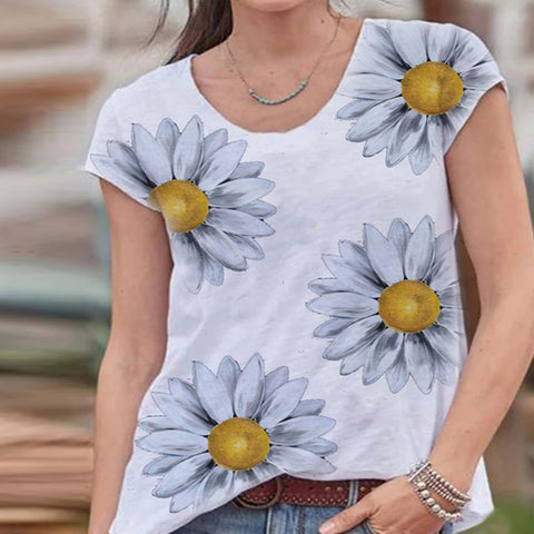Round Neck Casual Fashion T-shirt