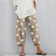 Fashion Daisy Printed Casual Pants