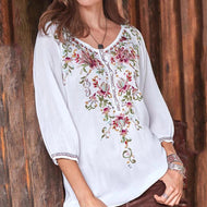Fashion Print Crew Neck Shirt