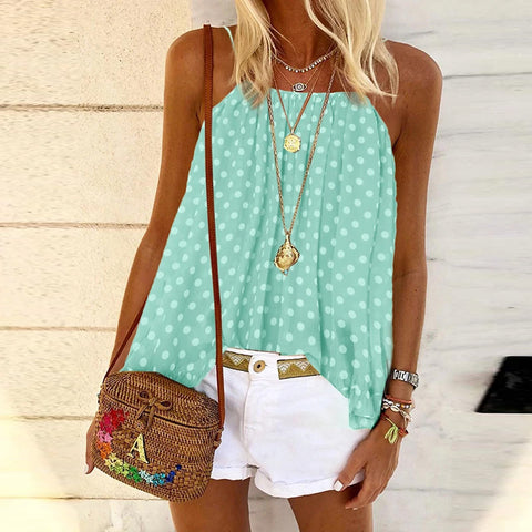 Bohemian Polka Dot Tank Top