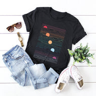 Creative Geometric Cotton Short-sleeved T Shirt