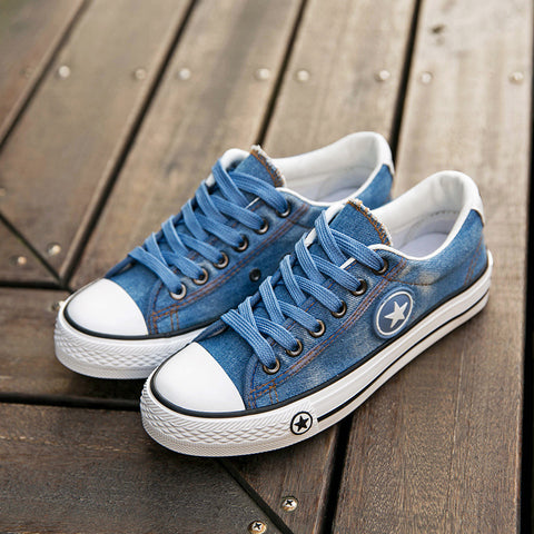 Leisure Wash Jeans Canvas Shoes